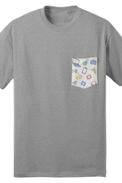 2bb37706fc Iconic Pocket Tee (Gray) Tyler Oakley merch youtube