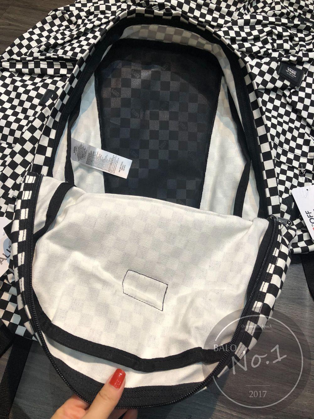 211e234aa1eace Vans Black And White Checkerboard Backpack- Fenix Toulouse Handball