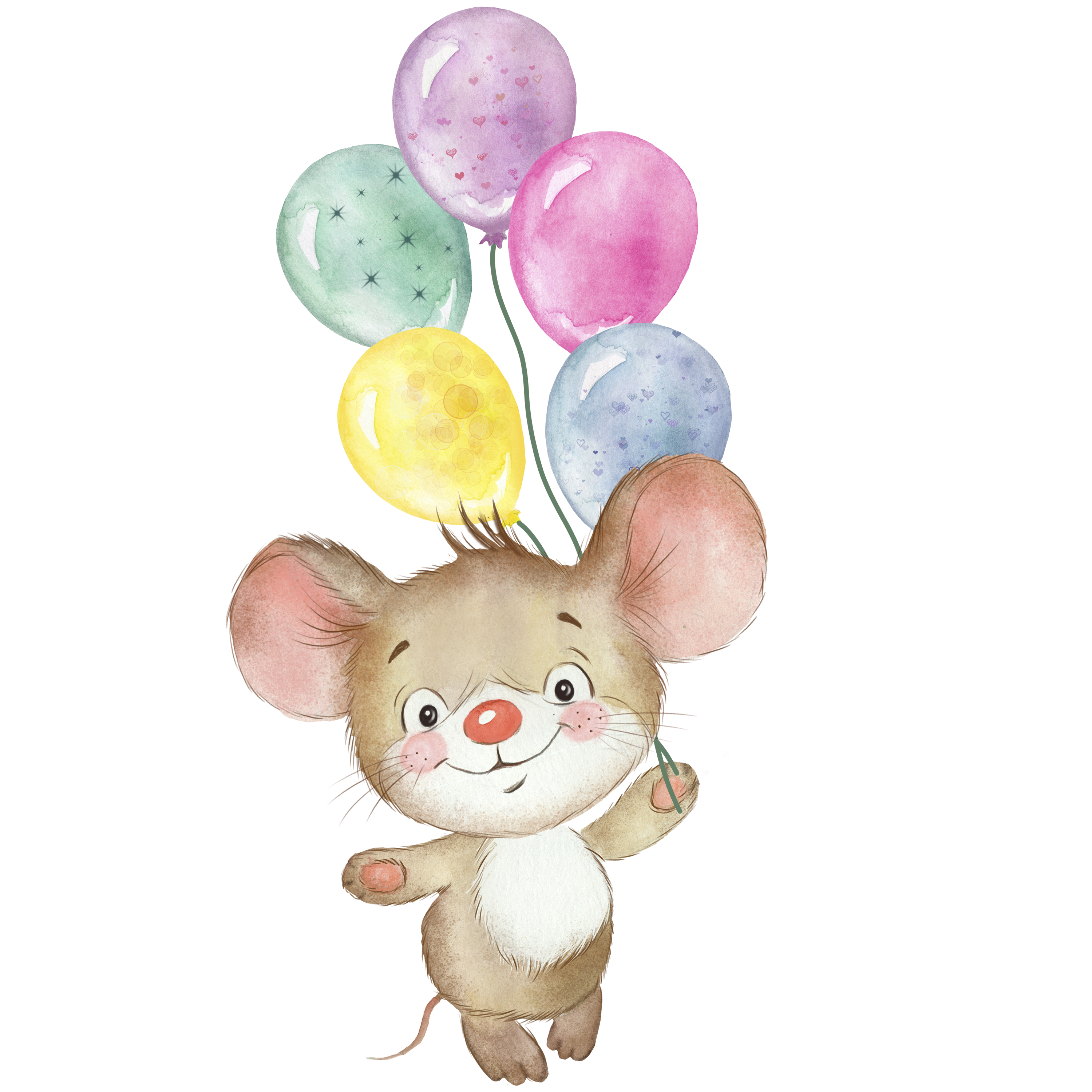 Mouse Watercolor Clipartgreeting Card Baby Shower Birthday Etsy In 2021 Cute Mouse Mouse Illustration Funny Mouse