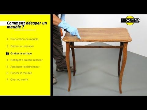 Tuto Decaper Un Meuble En Bois Bricorama Youtube Decaper Des Meubles En Bois Comment Decaper Un Meuble Decaper Un Meuble