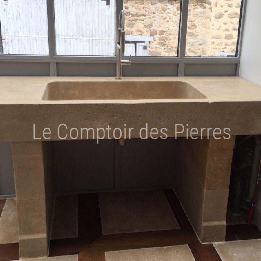 Evier Et Jambages En Pierre De Bourgogne Pierre De Bourgogne Plan De Travail En Pierre Plan De Travail Cuisine
