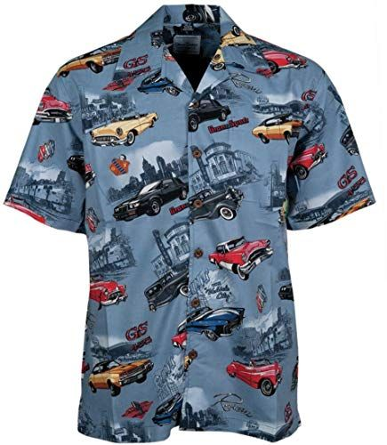 Buy David Carey Buick Classics Work Shirt ? Blue & Grey ? Button  Collared Short Sleeve Mechanic Camp/Club Shirt online – Onlineshoppingoffers