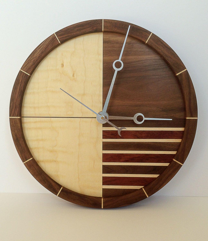 Wooden Clock by WhitesideWoodworking on Etsy https://www.etsy.com ...