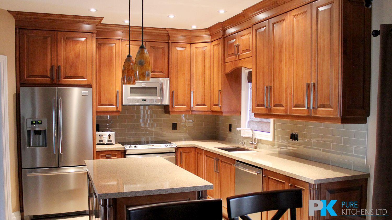 Custom Chestnut Kitchen with Chocolate Island | Kitchen ...