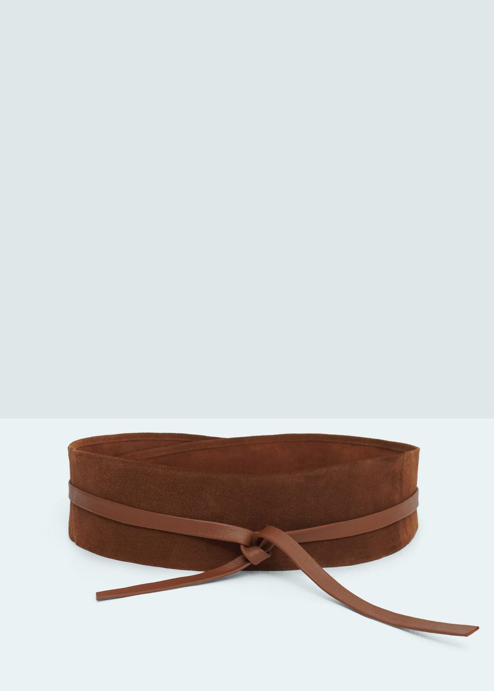 Cinturón fajín piel camel de MANGO (SS16) por 12 235c77279082