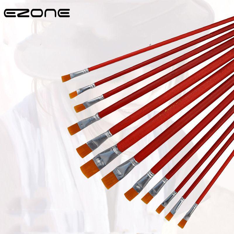 Satın Almak Ezone Yeni Boyama Fırça Yağlıboya Kalem Kırmızı çubuk
