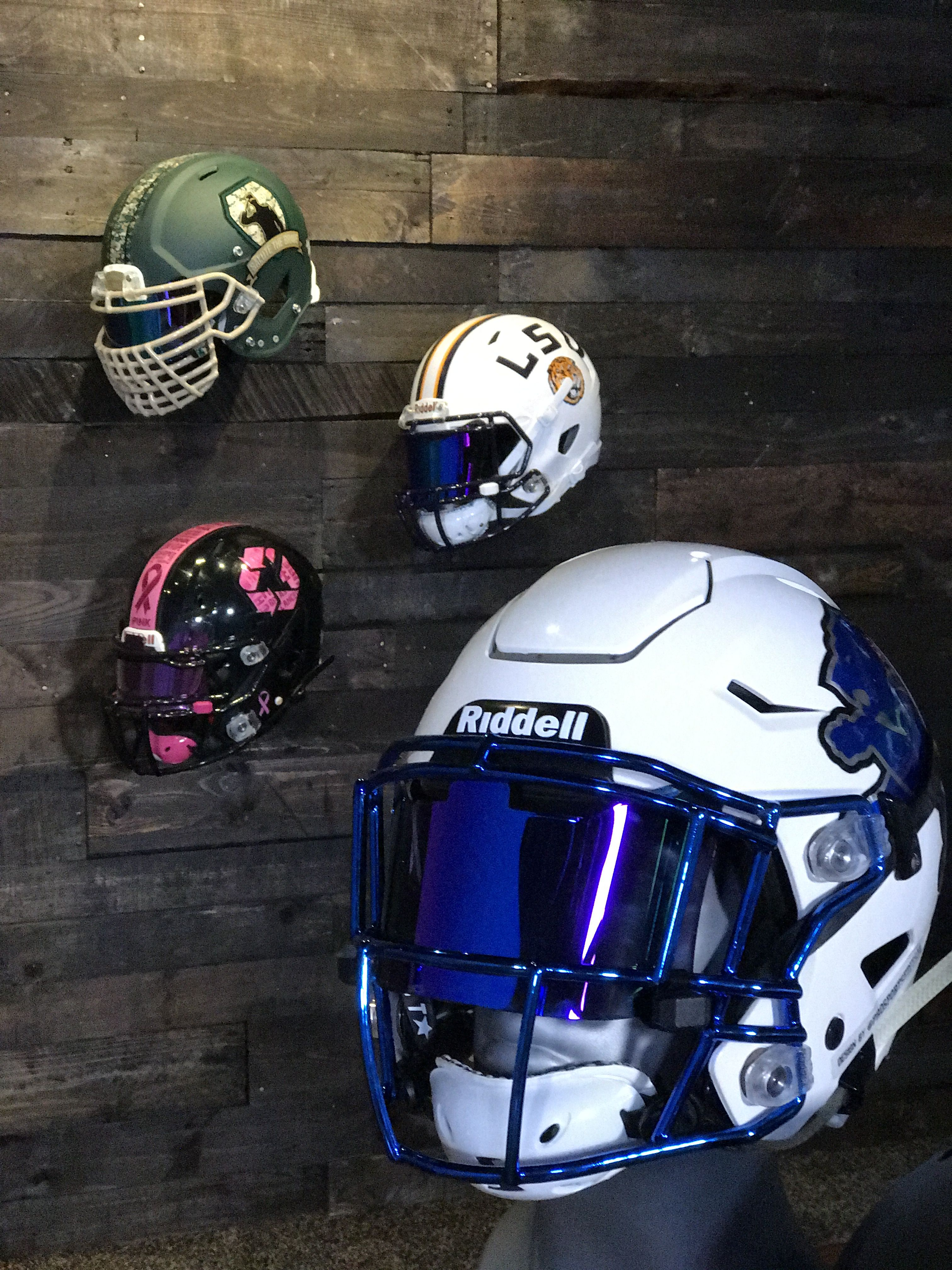 64ec7092 Our custom Lions SpeedFlex helmet | Custom Football Helmets ...