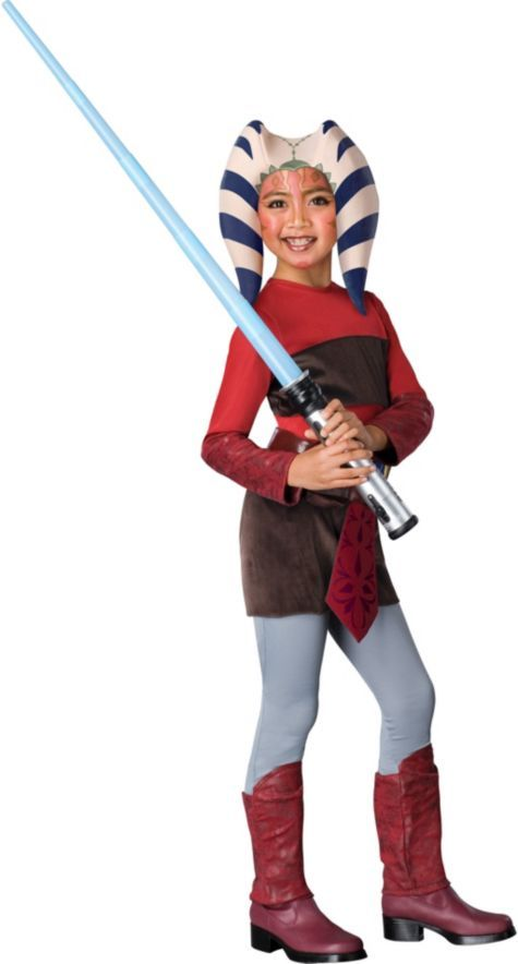 Girls Star Wars Clone Wars Ahsoka Costume - Party City  sc 1 st  Pinterest & Girls Star Wars Clone Wars Ahsoka Costume - Party City   ? ? WARS ...