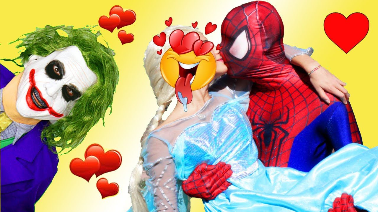 Spiderman Vs Joker Vs Frozen Elsa Prank Spiderman Real Life Superhero Người Nhện Siêu Nhân Phiêu Lưu