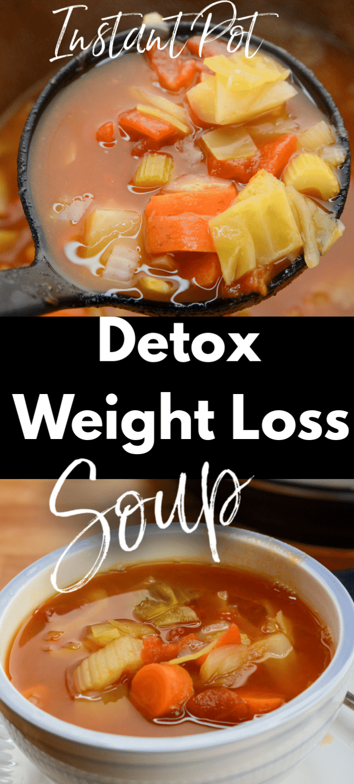 Instant Pot Detox and Weightloss Cabbage Soup #healthyweeknightmeals