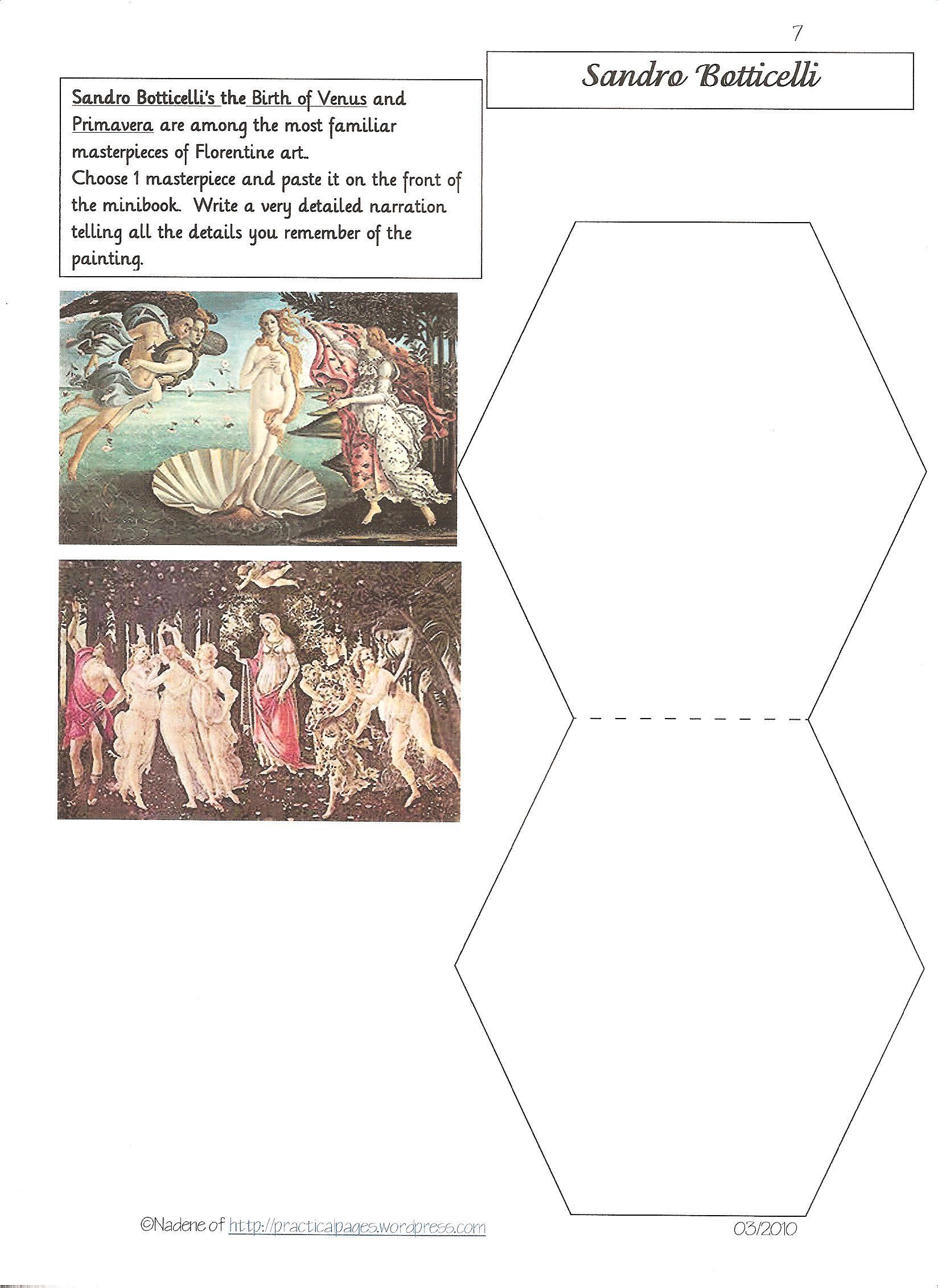 Famous Artists Lapbook Loads Of Minibooks With Images