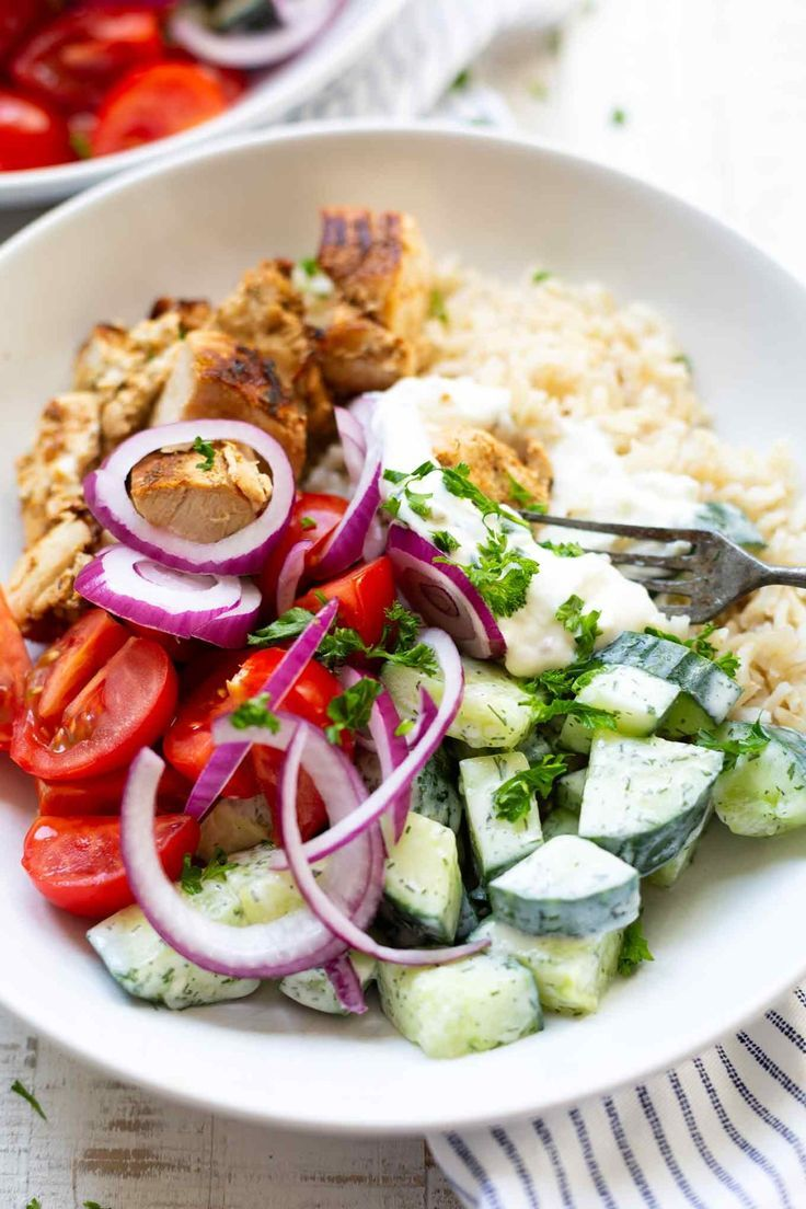 Photo of Greek Chicken Tzatziki Bowl – Cooking Carousel