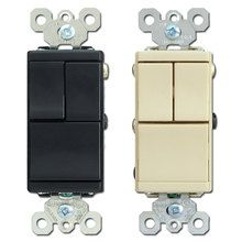 3 Stacked Single Pole Decora Rocker Switches Leviton 1755 Switch Plates Plates On Wall Plates