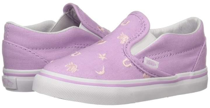 7f42fa9507 Vans Kids Classic Slip-On Girls Shoes