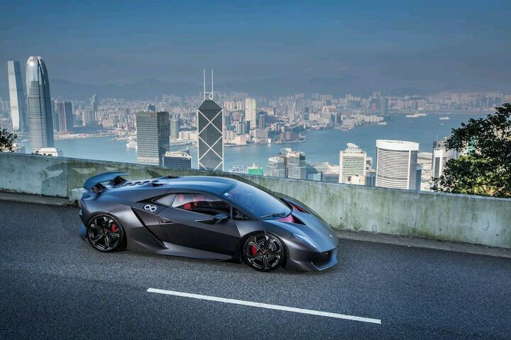 Lamborghini Sesto Elemento Observing Its Sport Cars