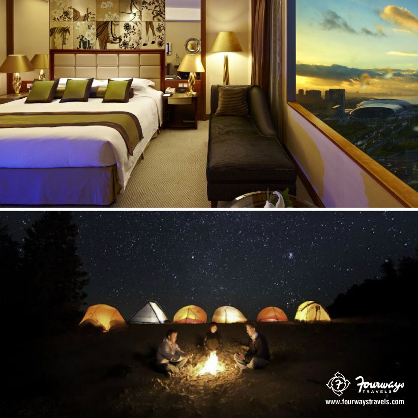 #DreamGetaway: Camping under the stars Vs. Luxurious 5 star hotel. Which one gets your vote? Repin with your answer