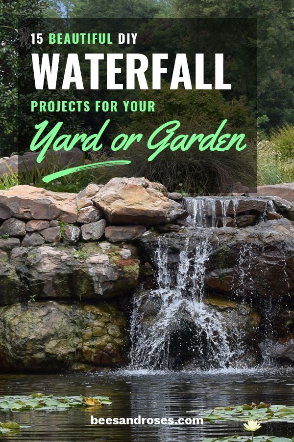 15 Beautiful DIY Waterfall Projects for Your Yard or Garden ~ Bees and Roses