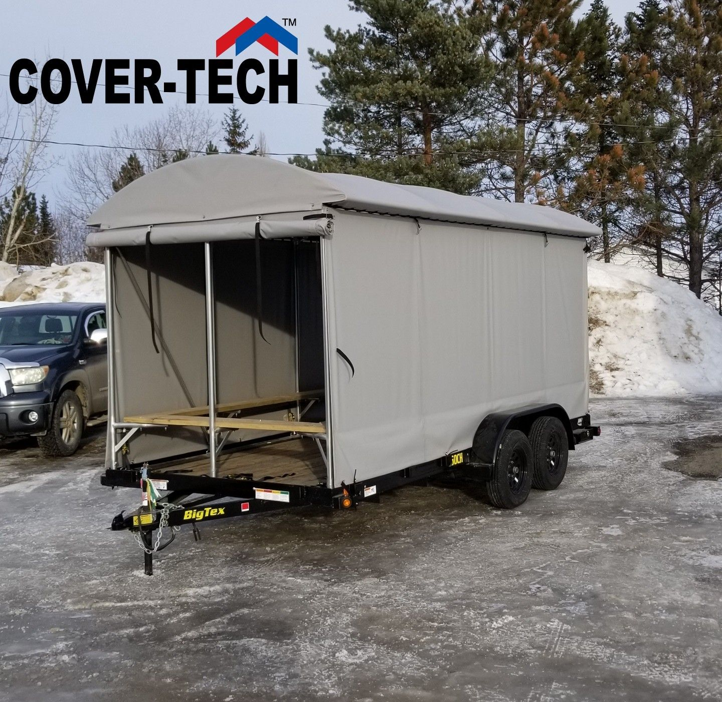 Turn your flatbed trailer into an enclosed trailer. DYI