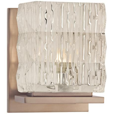 """Torrington 5 1/2"""" High Brushed Bronze Wall Sconce ... on Bathroom Sconce Lights Brushed Bronze id=97312"""