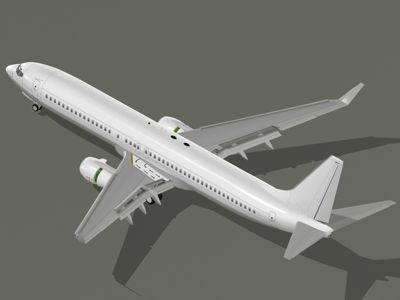 B737-900ER - Generic white / gray 3D model    #3Dmodel