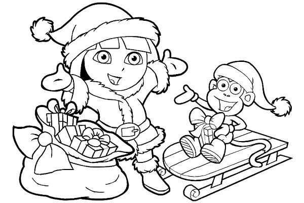 christmas coloring pages dora coloring kids Pinterest - fresh dltk birds coloring pages