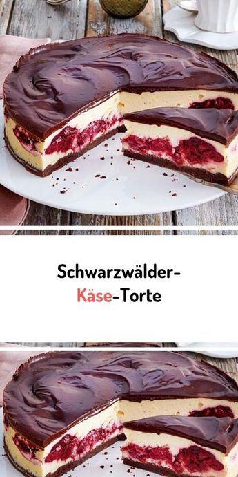 Schwarzwälder-Käse-Torte #schwarzwälder #schwarzwälderkirschtorte #käse #käsekuchen #käseliebe #torten #simplecheesecakerecipe
