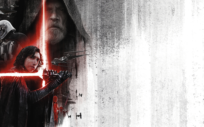 Download wallpapers 4k, Star Wars The Last Jedi, 2017