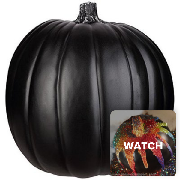 Watch The Video To See How To Use 9 Craft Harvest Pumpkin Choose Color Black Review Productreview Video Pumpkin Pumpkin Decorating Glitter Pumpkins