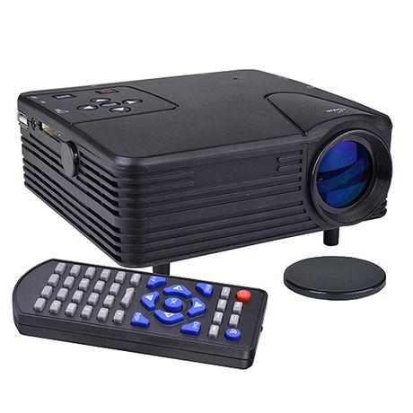 "— Mini Digital LED HDMI Video Projector — $63.00 — • Display size: 20~60"" • 1TB hard drive • Audio formats: MP3, WMA, FLAC, AC3, AAC • Video formats: RM, MPEG, H.264, RMVB, MPEG4, DIVX • Picture formats: JPEG, BMP, PNG, GIF • Input connectors: VGA, HDMI, USB, AV • Measures 5.5"" W x 2.5"" H x 5"" D — http://www.nomorerack.com/daily_deals/view/2597830"