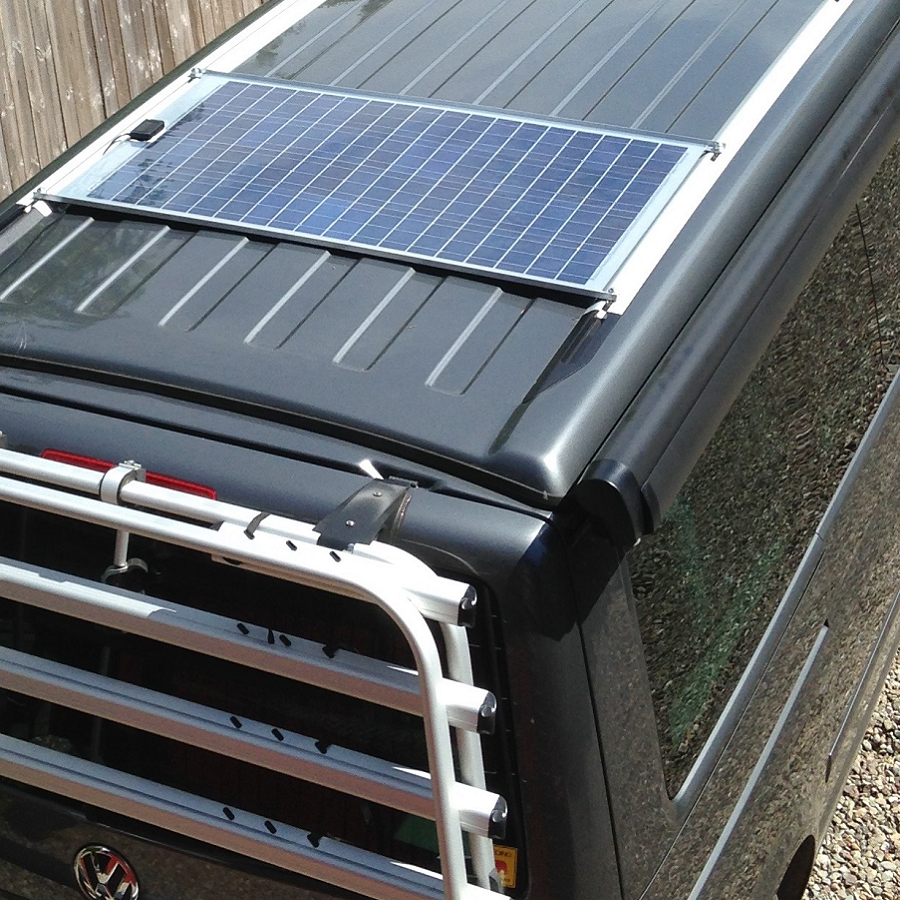 vw california t5 t6 solar panel kit camping. Black Bedroom Furniture Sets. Home Design Ideas