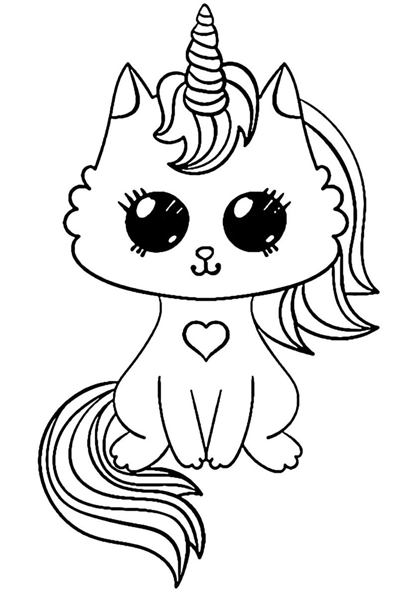 Magic Kitten High Quality Free Coloring From The Category Unicorn More Printable Pictures On Ou Unicorn Coloring Pages Cute Coloring Pages Kittens Coloring