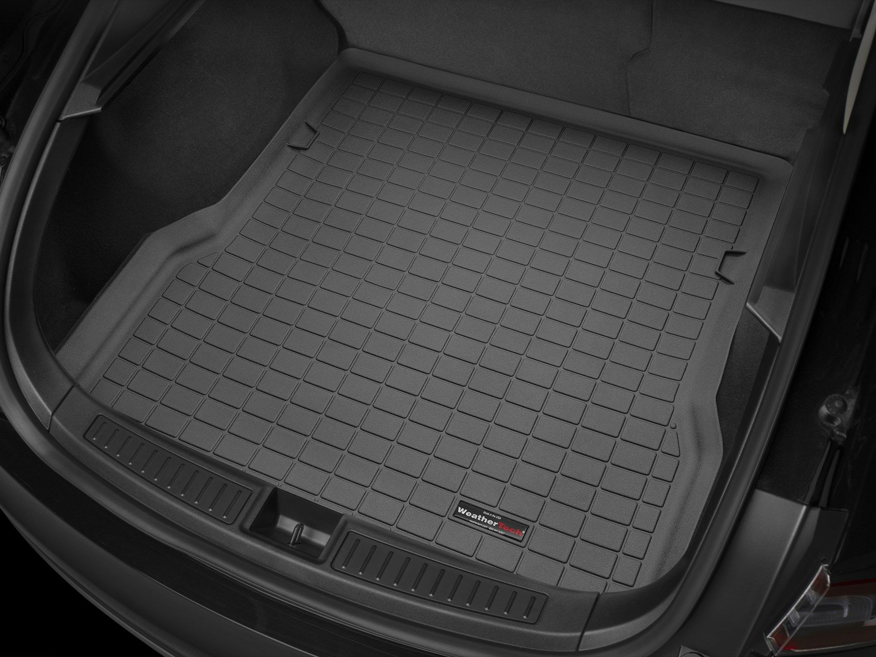 All Weather Weathertech Custom Rear Cargo Liner Trunk Mat for Honda Accord 2018 Black