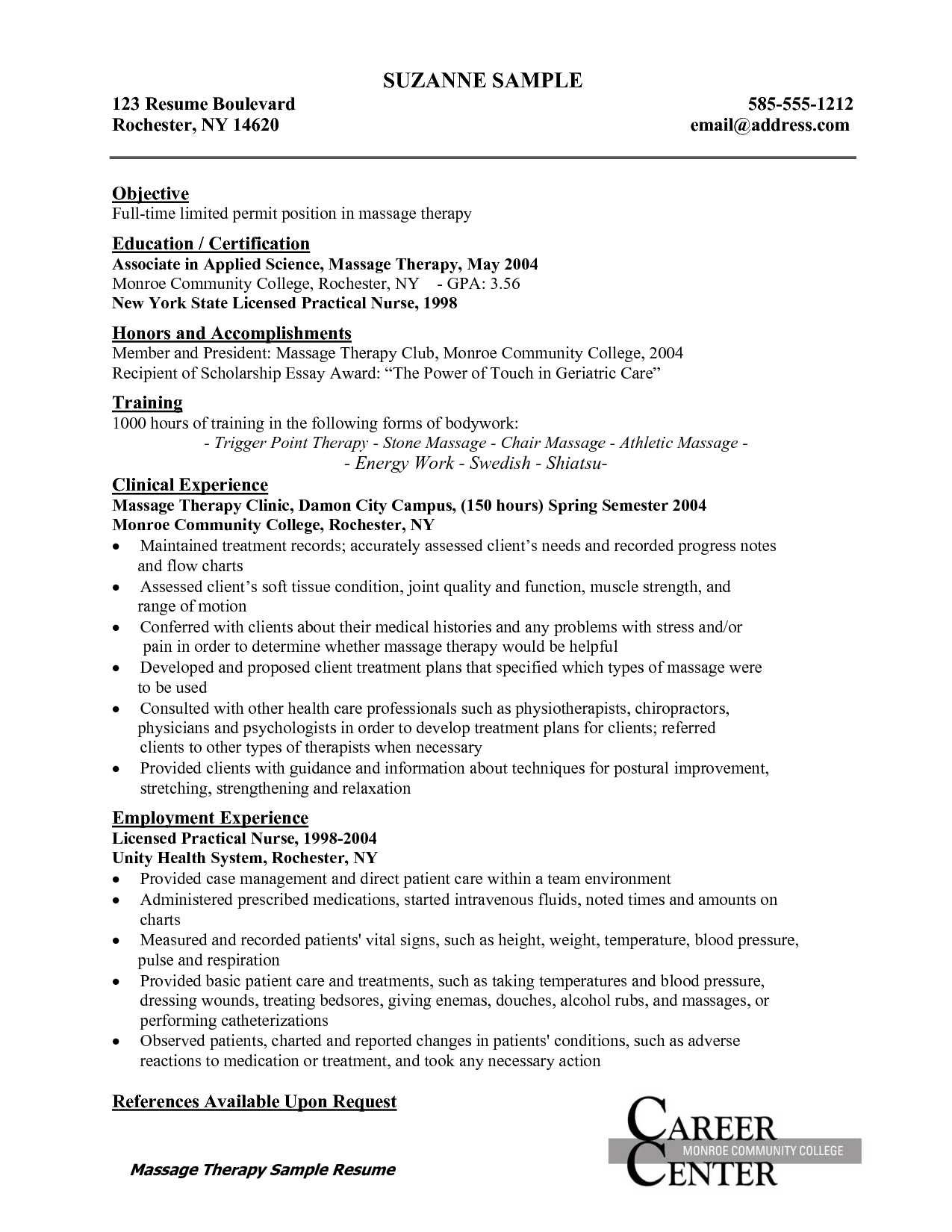 Nursing School Resume Template Licensed Practical Nurse Resume  Httpwwwresumecareer