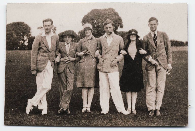 Friends: Ralph Jarvis, Randolph Spencer Churchill, Diana Mitford, Tom Mitford, Diana Spencer Churchill, and James Lees-Milne, 1927