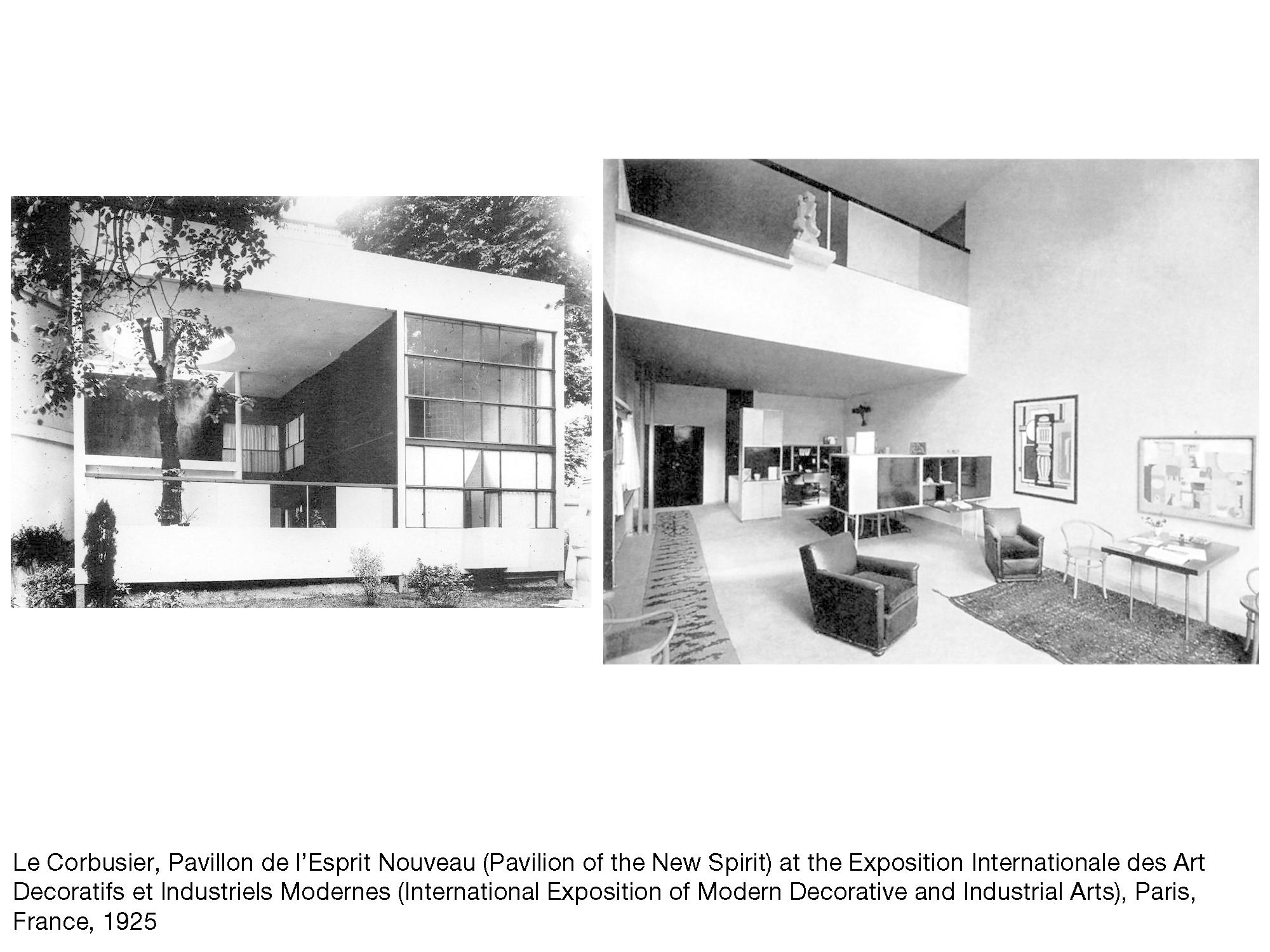 le corbusier pavillon de l esprit nouveau at the exposition