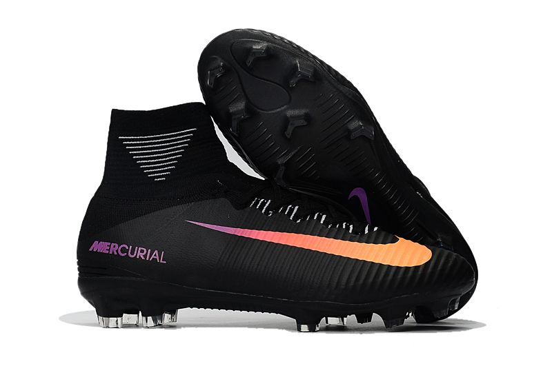 Nike Mercurial Superfly V FG Soccer Shoes Black Purple Orange on  www.evensoccer.com 71de87c7510af