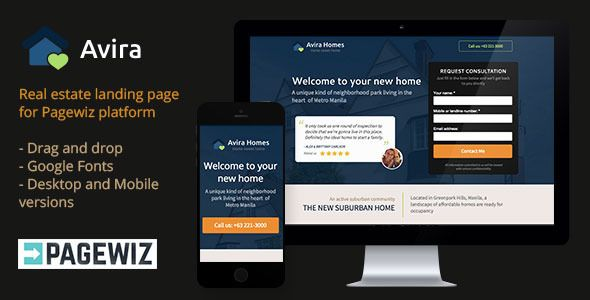 avira real estate pagewiz landing page by xknothing. Black Bedroom Furniture Sets. Home Design Ideas