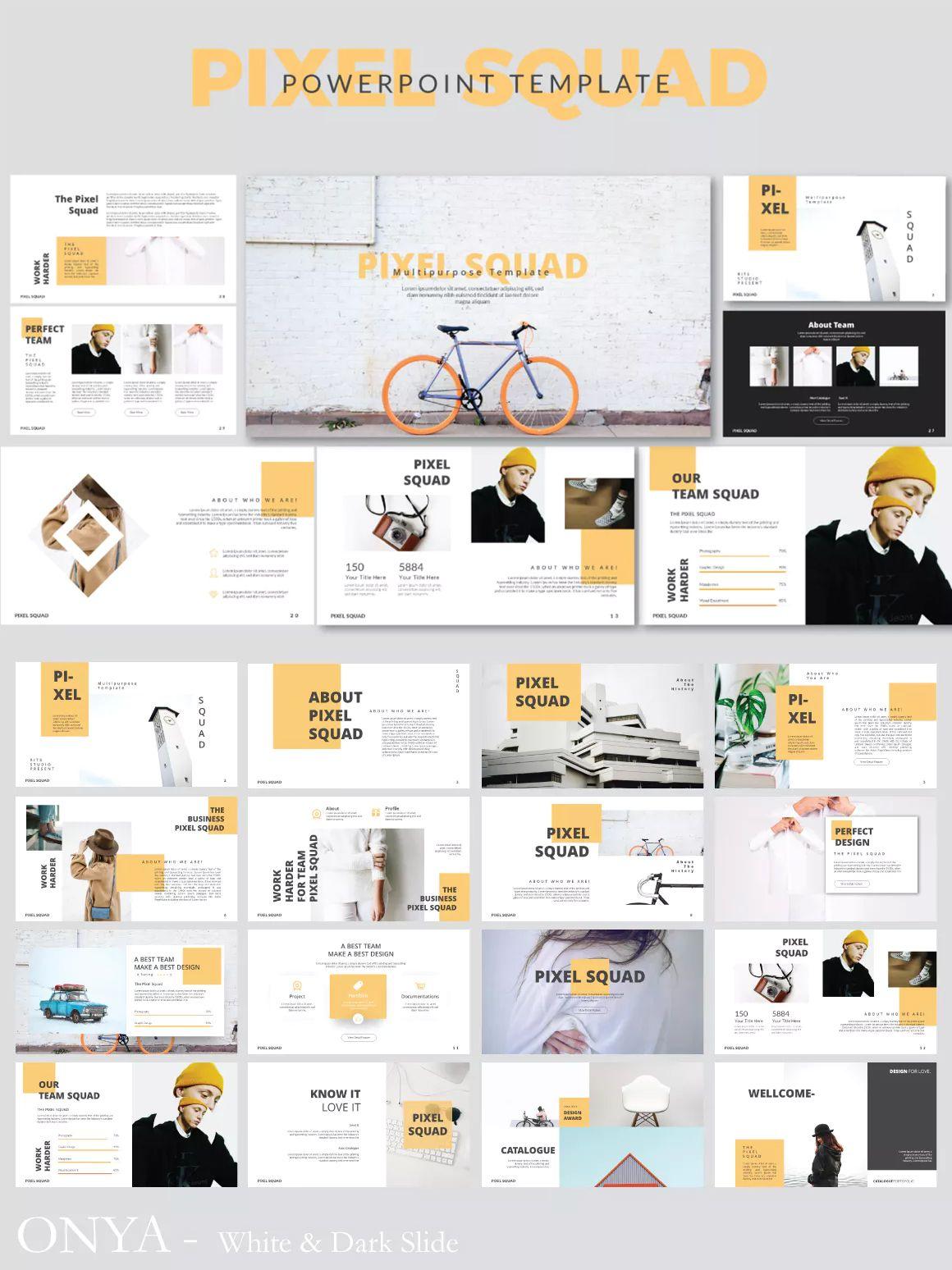 Pixma Squad Powerpoint Presentation Template Powerpoint Prasentation Broschurendesign Design Web