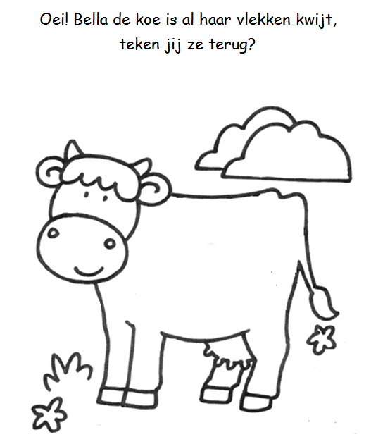 Vlekken Tekenen Koe Boerderij Pinterest Farm Animal Coloring