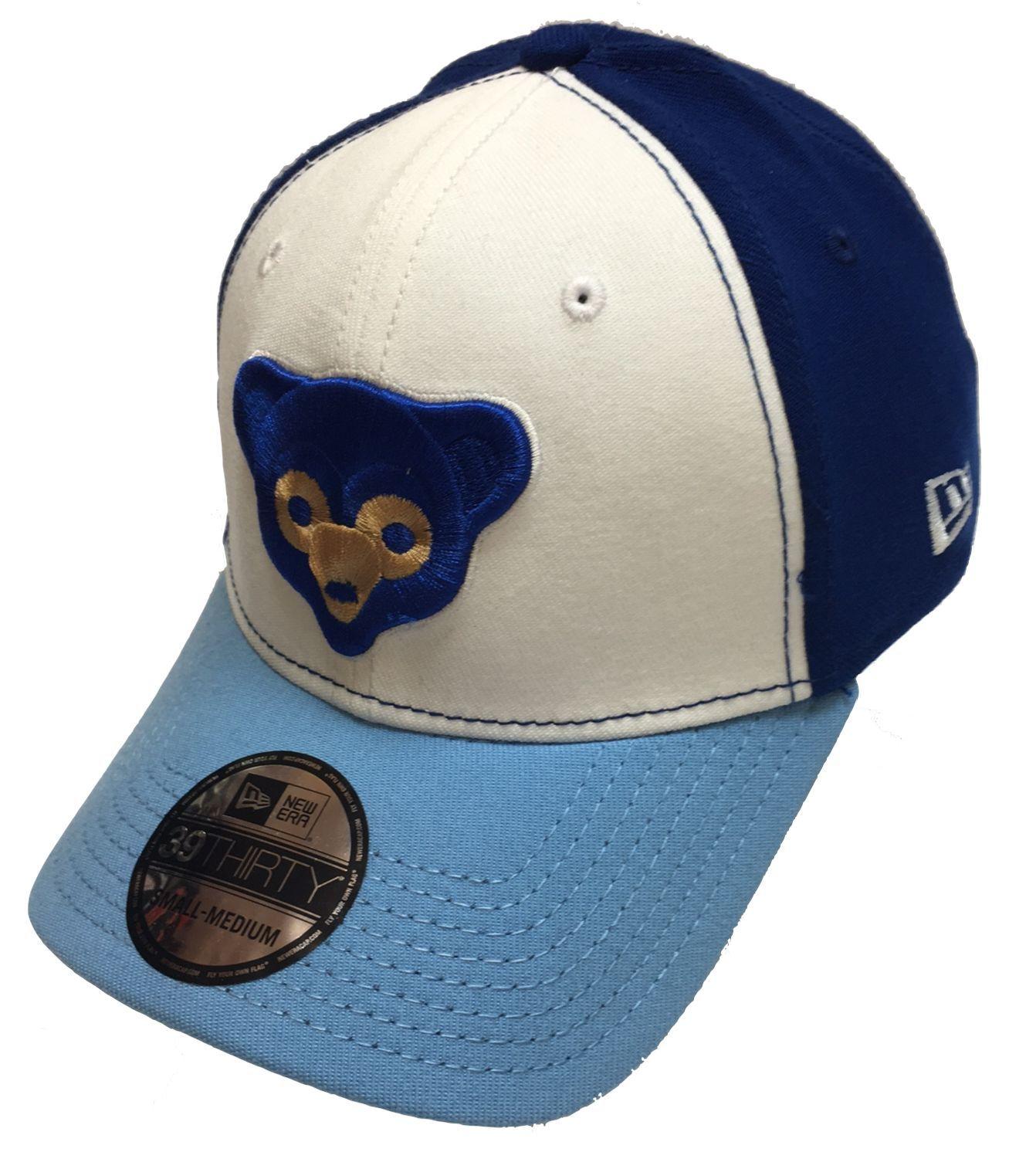 360b5d6b26317 Chicago Cubs 1969 Logo 39THIRTY Flex Fit Hat By New Era