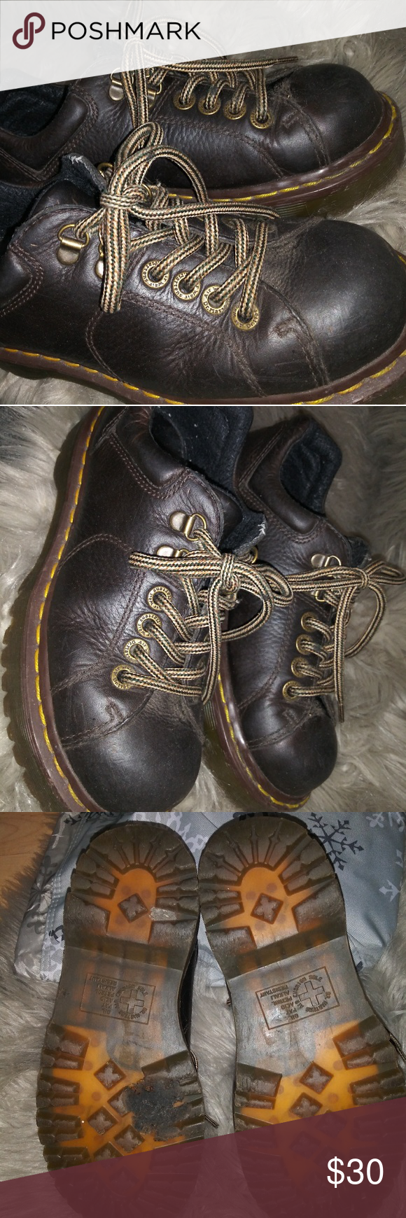 Vintage Doc Martins Dark Brown Leather Vintage Doc Martins