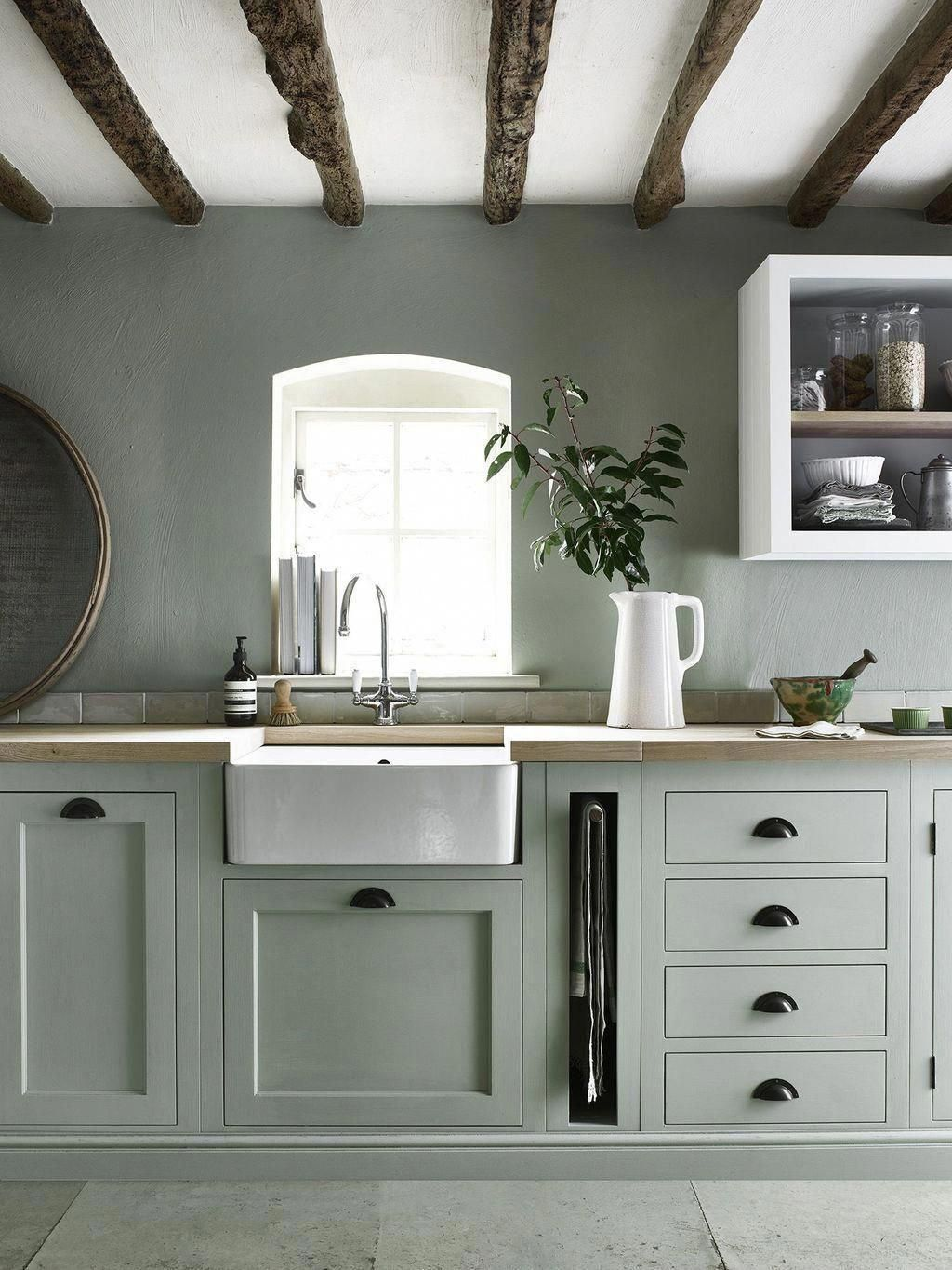 46 Amazing Painted Kitchen Cabinets Paint Color Countrykitchen Paintingkitchencabinets In 2020 Kitchen Cabinet Colors Kitchen Cabinet Trends Kitchen Design Small