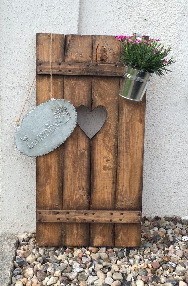 Details zu Fensterladen Herz Holz Dekoration Gartendekoration - gartendekoration aus holz