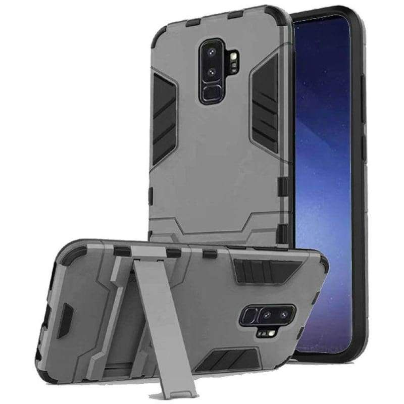 Dynamite Shockproof Case with Kickstand, Grey for Samsung Galaxy S9 Plus