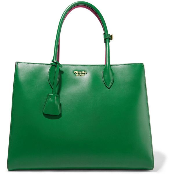 9461981f3a5d Prada Bibliothèque large color-block leather tote (€2.380) ❤ liked on  Polyvore · AfficheSacs À Main ...