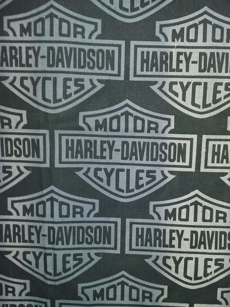 15 96 Or Best Offer Harley Davidson Logo Black Fabric Curtain 1 1 2 Yards Harleydavidson Harley Davidson Harley Davidson Fabric Fabric