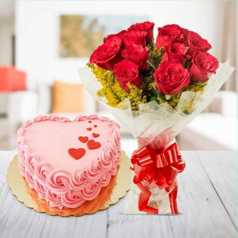 Online Gifts Delivery Delhi Cake online, Heart shaped