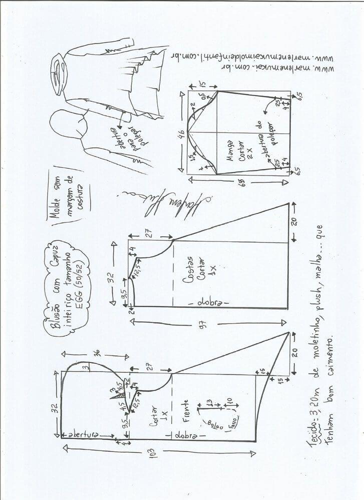 Patrón de sudadera con capucha para mujer | Uniformado | Pinterest ...
