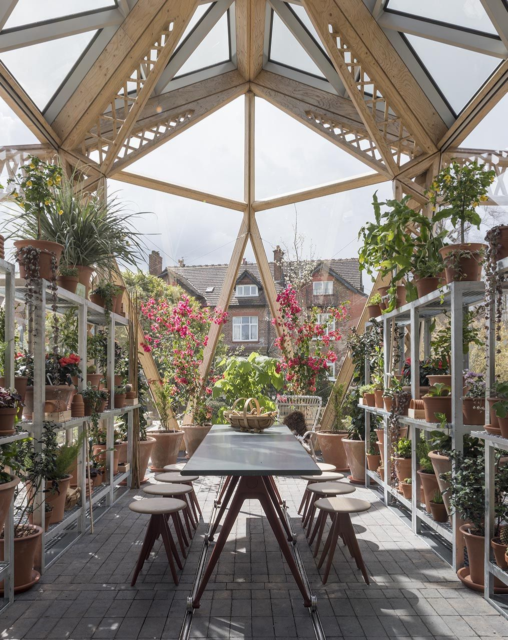 maggie s centre dining table and greenhouse table foster rh pinterest com