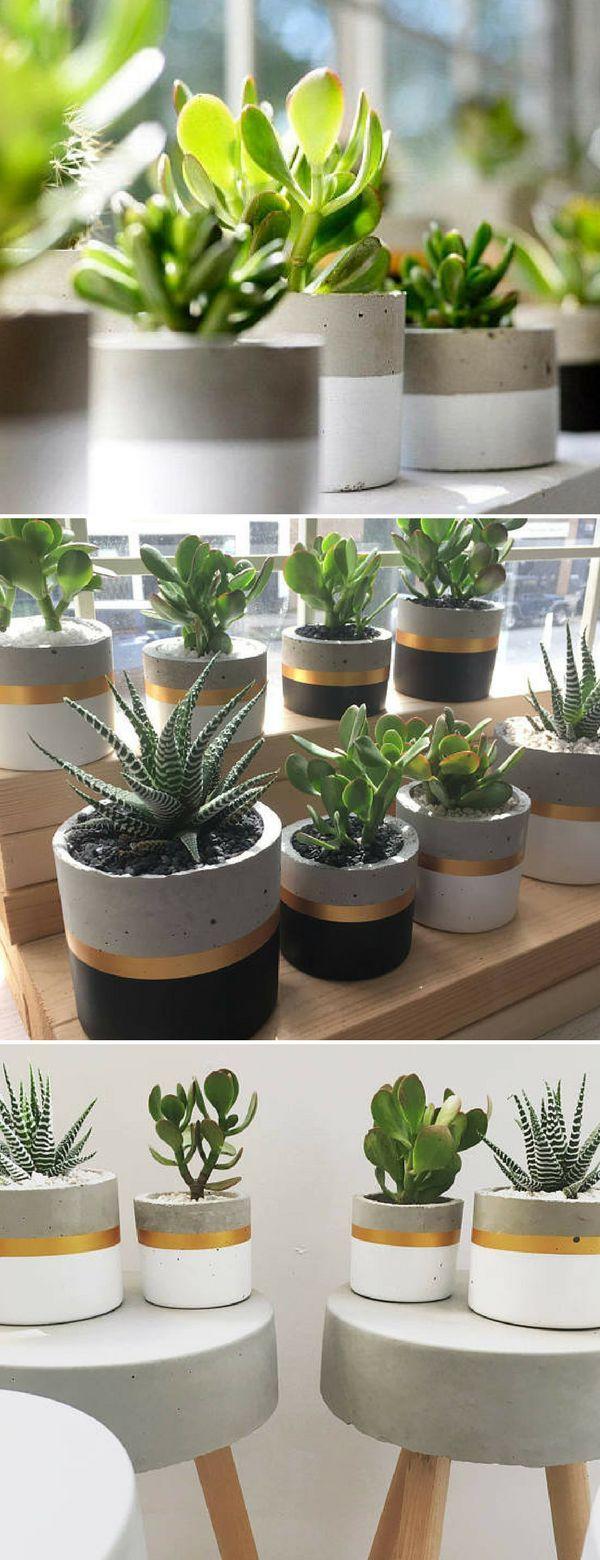 DIY-Blumentopf aus Beton #flowerpot